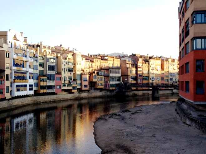 Brightly painted facades overlooking the Onyar River