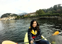 Kayaking in Lake Como, Italy