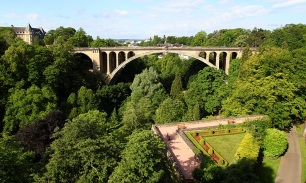 Adolphe Bridge in Luxembourg