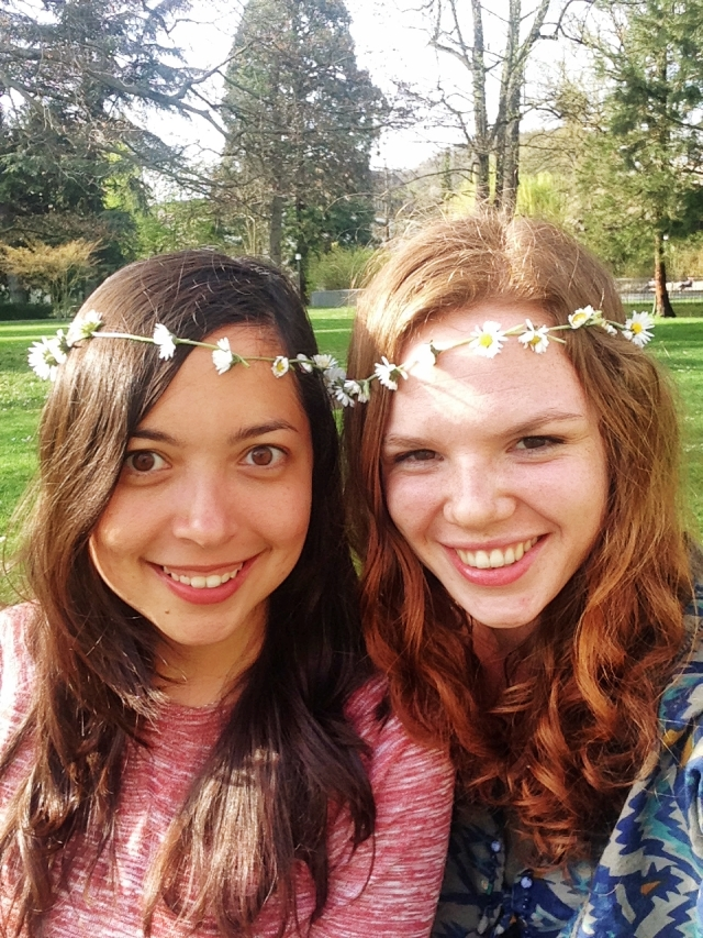 Making flower headbands with Sonja in Baden, Switzerland