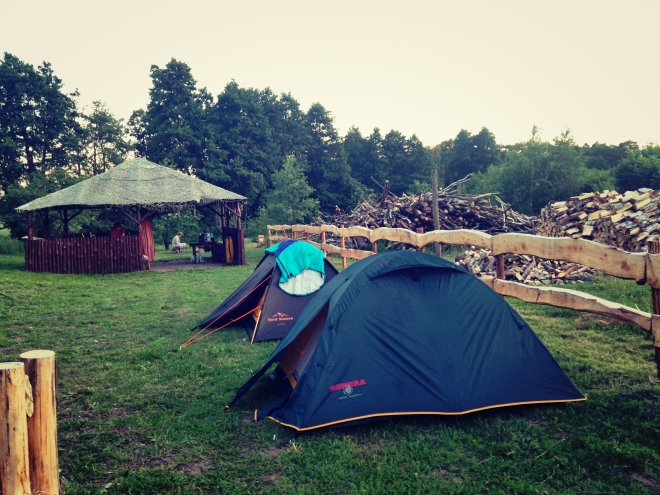 We had to kayak 6 hours to reach this campsite and walk 6kms to reach the nearest bus station