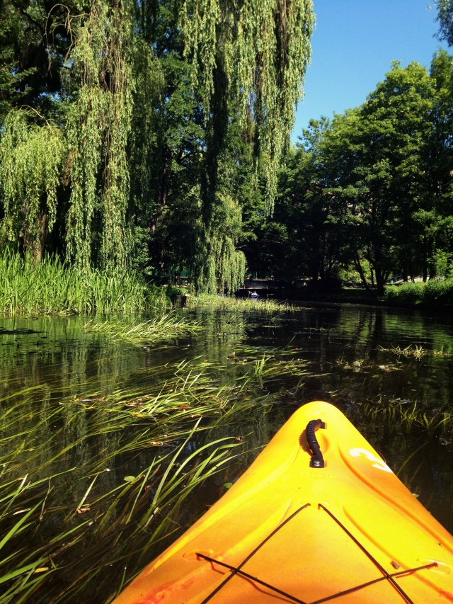Kayaking in the Polish wilderness away from the usual tourist routes